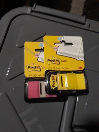Post-it index 3M amarelo e rosa