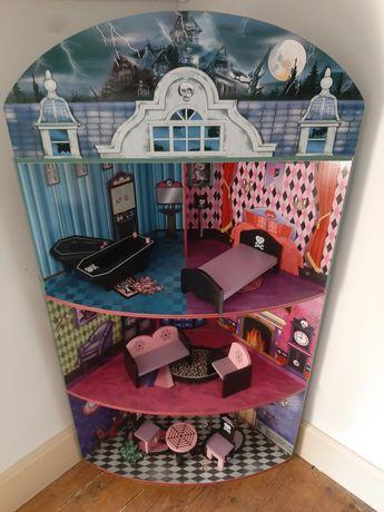 """Casa de bonecas """"monster high"""" com mobilias"""