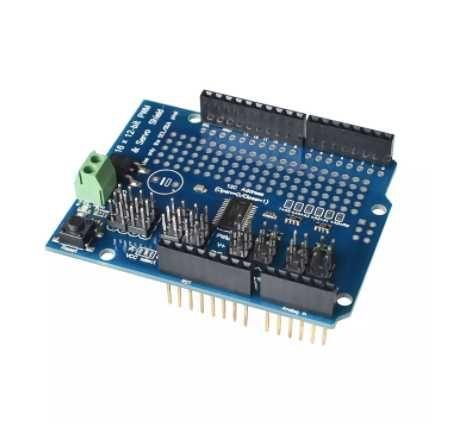 Servo Shield PWM 16 Canais 12 Bit Com Interface I2C Para Arduino v2