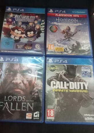 Jogos PS4-South Park, Horizon Zero Dawn, Lords of the Gallen e cod iw
