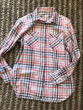 Pastelowa koszula w kratkę rozm S kupiona w szwecji