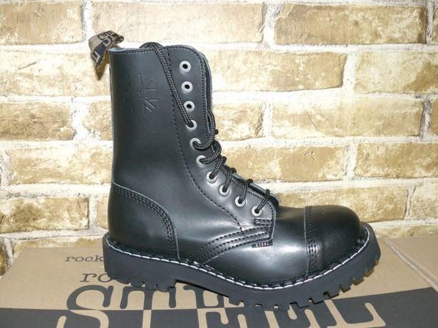 Черевики Steel 36-49 шкіра на 10 дір берци гади гриндера кожа ботинки