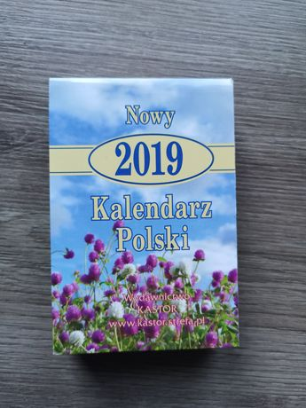 Oryginalna kartka z kalendarza ROK 2019