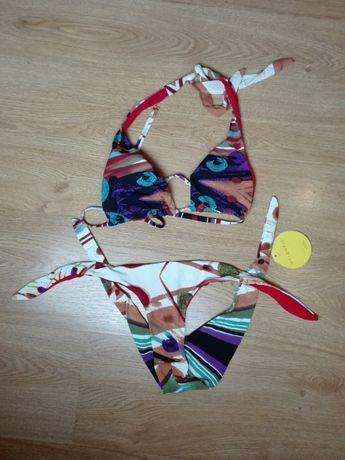 Strój kąpielowy Atlantic dwuczęściowy stanik bikini nowy xs 34