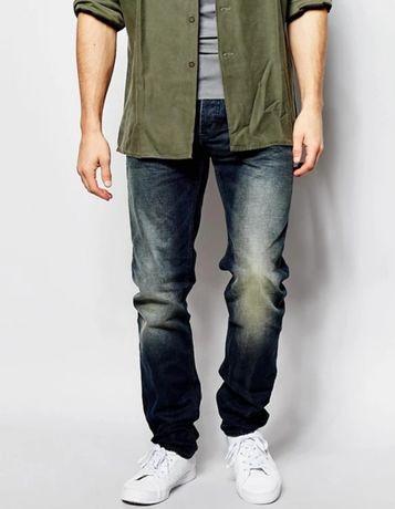 Сині чоловічі джинси Marks and Spencer вільного крою, ретро