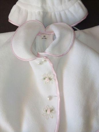 Polarkowe ubranko do chrztu r.80