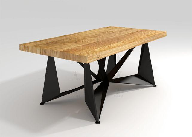 Stół dębowy Loftowy rozkładany PREMIUM 180/280cm x 100cm STYL LOFT