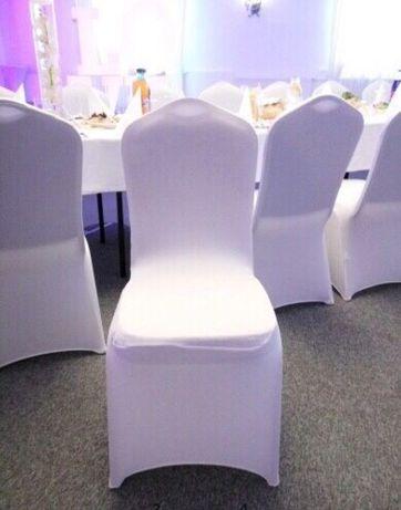 Pokrowce na krzesła elastyczne / białe / Dekoracja / Wesela