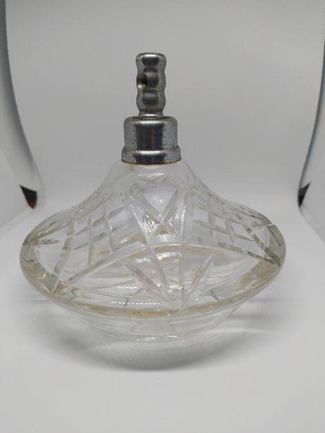 Stary szklany flakon na perfumy kolekcjonerski