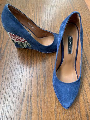 Итальянские оригинальные замшевые туфли Marco Pinotti