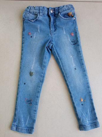 Jeansowe spodnie rozmiar 98