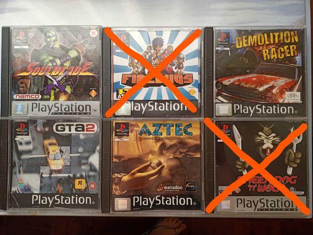Vários Jogos Playstation 1 (PS1) - Aztec, Demolition Racer, Soulblade