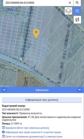 Зесельный участок с.Крушинка Зеленый Бор продажа земли 20 соток