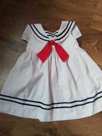 Sukienka letnia marynarska