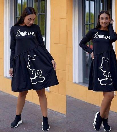 Платье черное minnie mouse размер 50-52