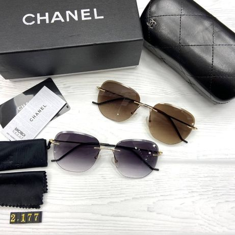 Солнцезащитные очки женские безоправные Шанель