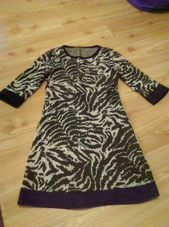 Sukienka szaro-czarna