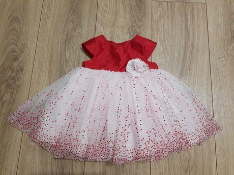 Sukienka suknia dla dziewczynki 68 chrzest wesele