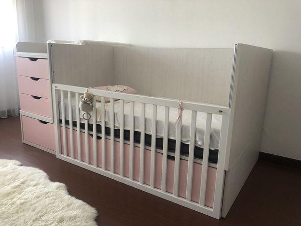 Cama convertivel de bebe a junior