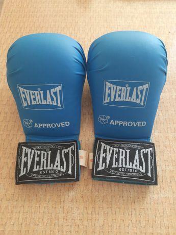 Рукавички для карате Everlast розмір M Blue