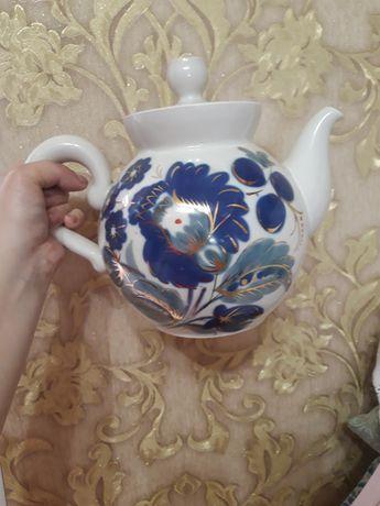 Новый чайник с росписью