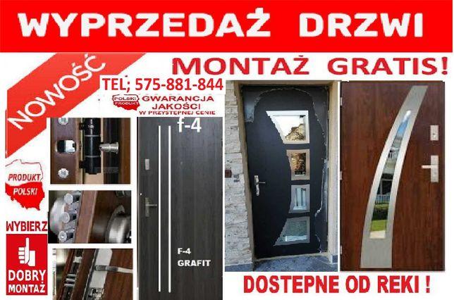 Drzwi ZEWNĘTRZNE- wejściowe MONTAŻ GRATIS , antywłamaniowe wyciszone