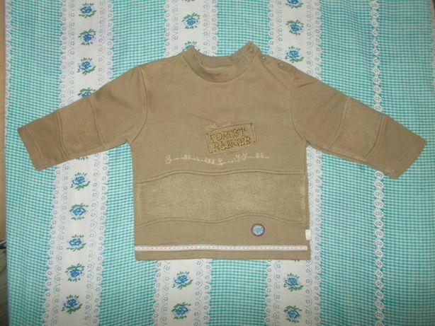 Кофта байковая для мальчика на 1-1,5 лет