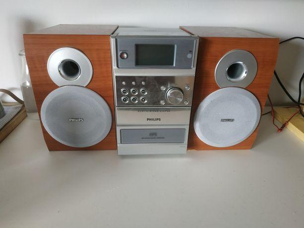 Micro Mini Wieża Philips Głośniki CD  Okazja Radio Sprawna