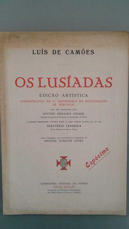 """Brochura de apresentação artística da obra  """"Os Lusíadas """""""