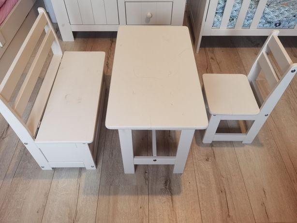 Zestaw Maluch Pinio stolik krzesełko ława