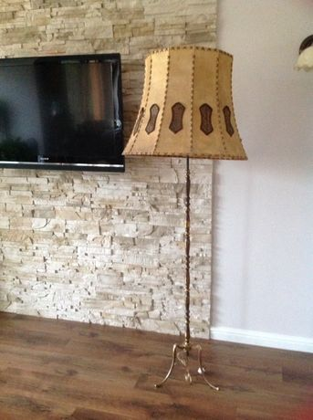 Lampa mosiężna stojąca 163 cm