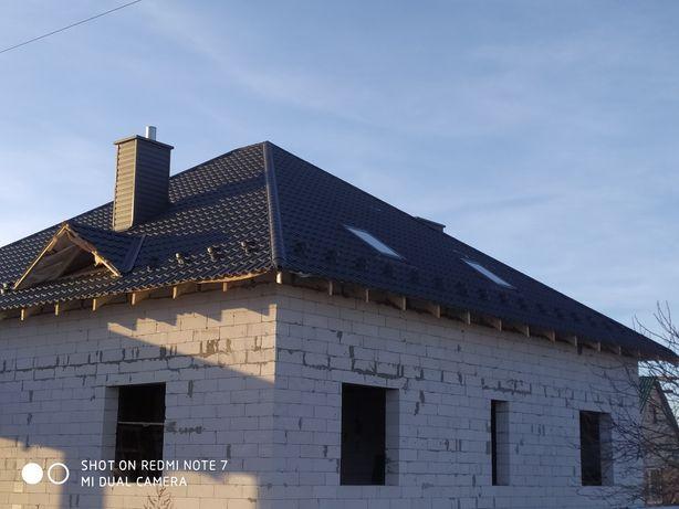 монтаж даху можливо подоговору,маємо всі матеріали +ліса.