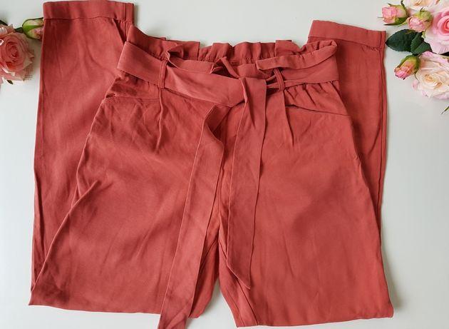 Ceglane spodnie do kostek Zara S