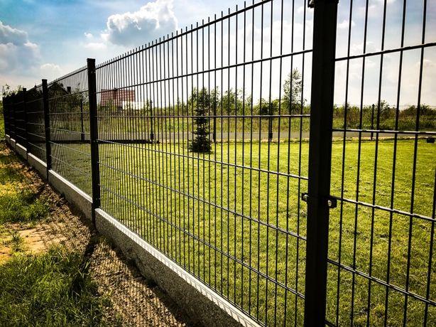 Kompletna ogrodzenie panel VEGA 2D 163cm 6/5/6 WIŚNIOWSKI