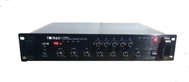 Новый трансляционный усилитель Younasi Y-1120FU, 120Вт, USB, 5 зон