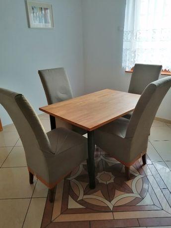 Krzesła z pokrowcami 4 sztuki