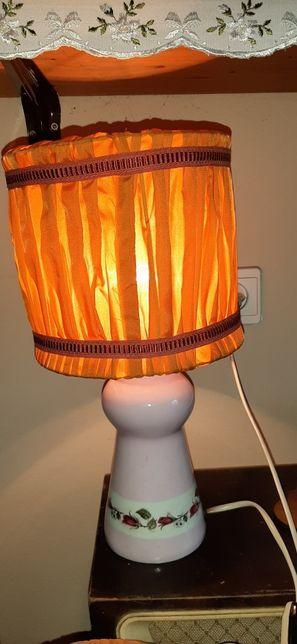 Stara lampa porcelana Ćmielów PRL