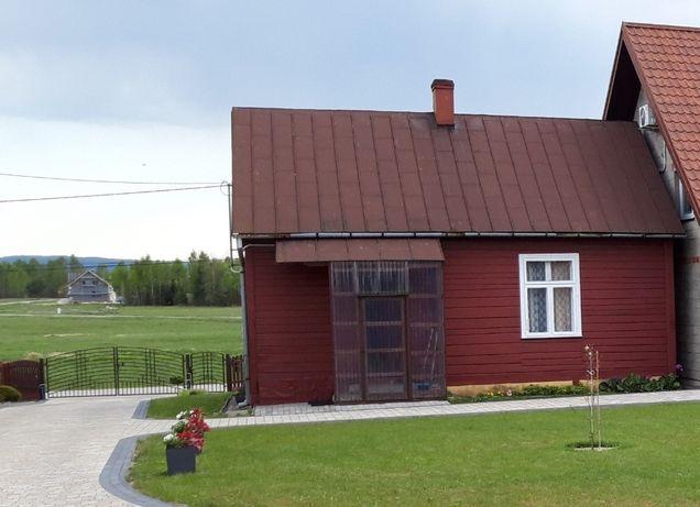 Dom drewniany z bali do rozbiórki