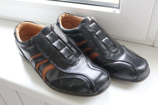 Мужские кожаные ботинки туфли кросовки летние демисезонные