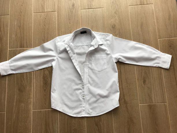 Рубашка next белая на 6 лет