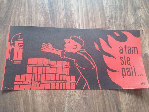 Plakaty BHP z okresu PRL
