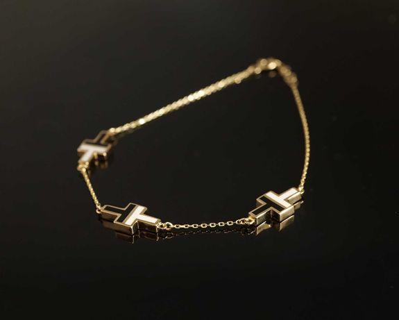Złoto 585 - złoty bransoletka Celebrytka na wzór Tiffany