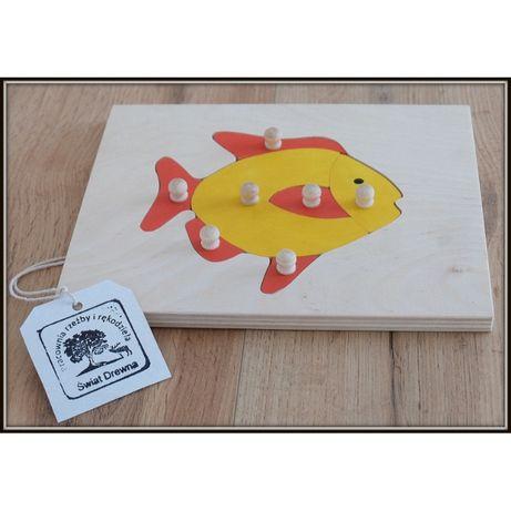 Ukł. budowa ryby, montessori, puzzle