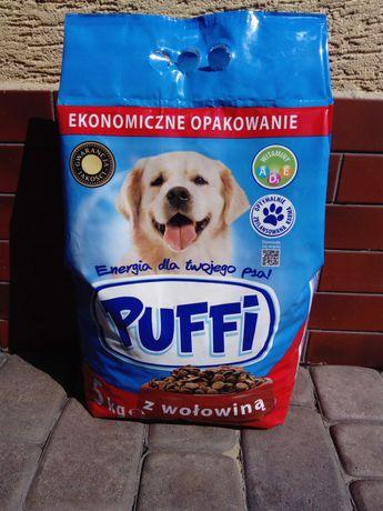 Sucha karma z wołowiną dla psa Puffi