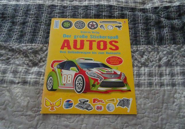 Książka o samochodach Der große Stickerspaß Autos