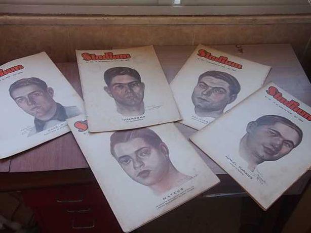 Revista STADIUM nº 190/191/192/198/200 Ano 1946 Capa A.Martins Maqueda