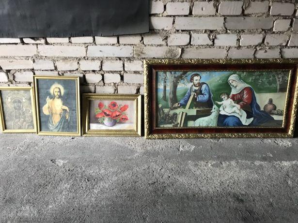 Ikony obrazy religijne Jezus PRL