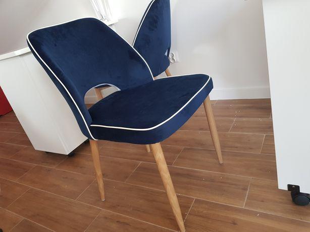 Krzesła RETRO nowe granatowe