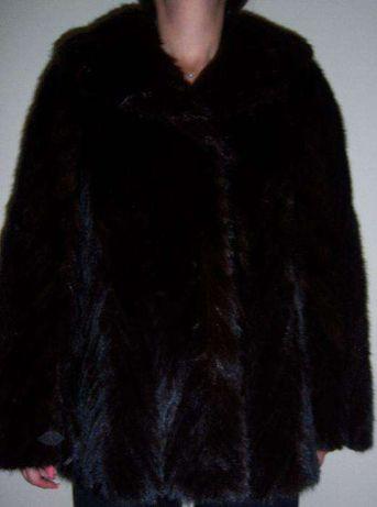 Норковая шуба, полушубок из кусочков ёлочка, размер 46-48