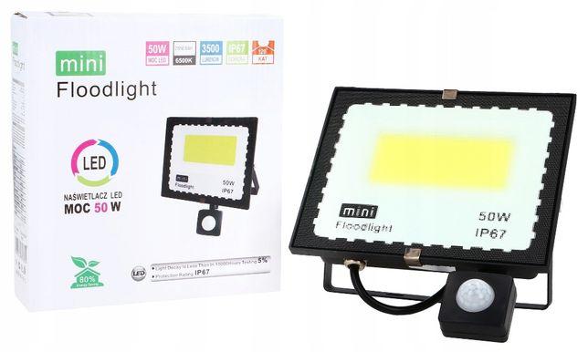 NAŚWIETLACZ halogen LAMPA LED 50W Z Czujnikiem ruchu